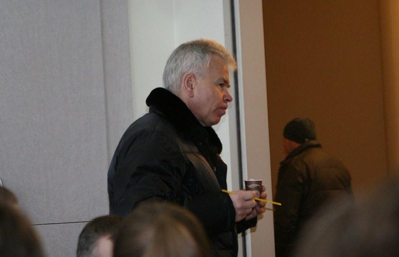 Jurijus Borisovas Vilniaus oro uoste sausio 15 dieną