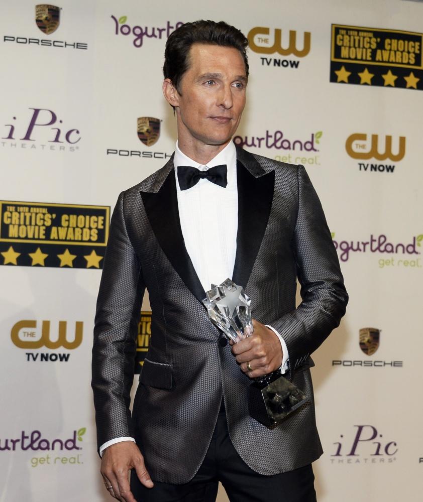 19-ieji Kritikų pasirinkimo apdovanojimai: Matthew McConaughey
