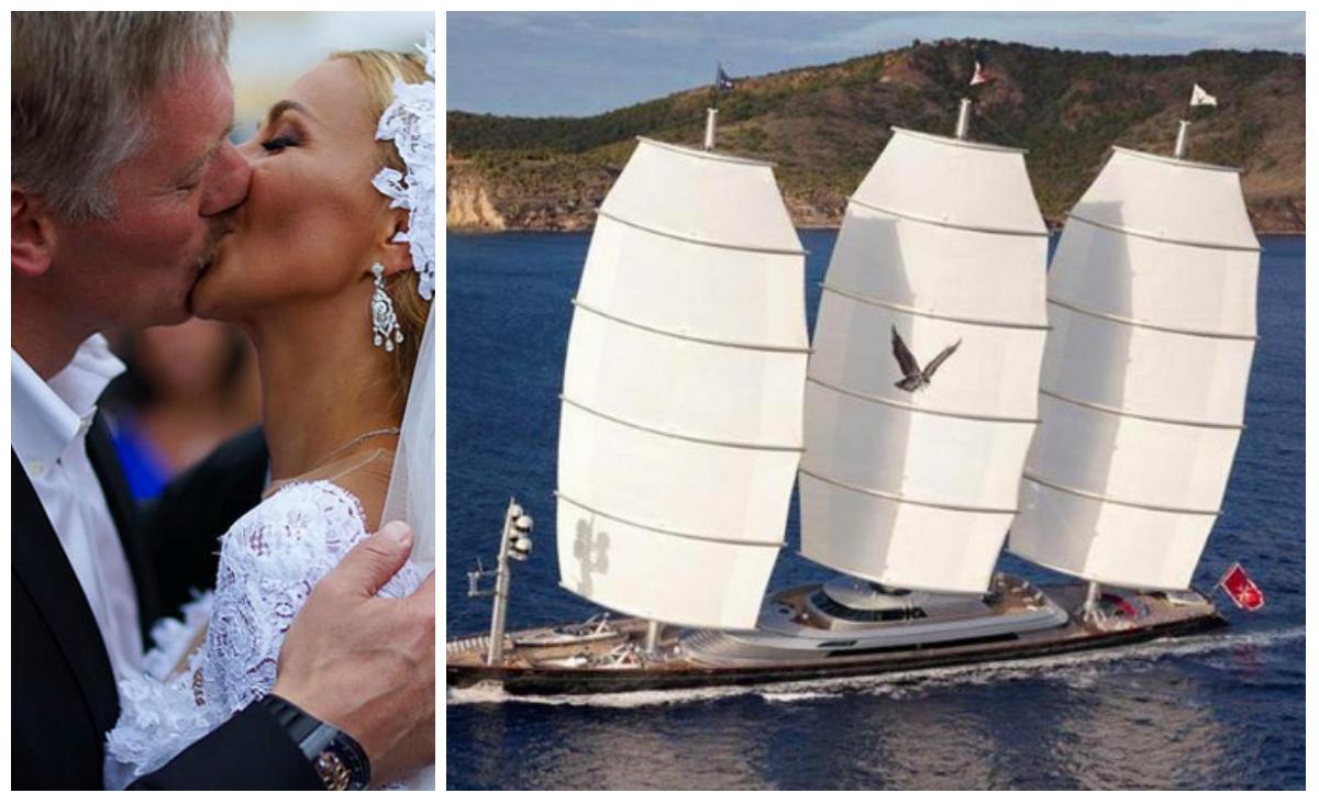 Dmitrijus Peskovas per medaus mėnesį lepinasi prabanga vienoje brangiausių pasaulyje jachtų