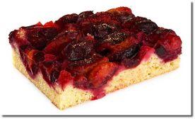 Slyvų pyrago su marcipanais receptas