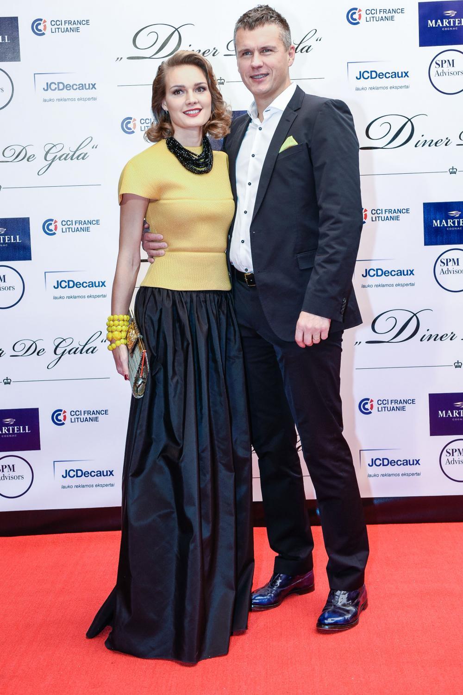 Jurgita Jurkutė-Širvaitė su vyru