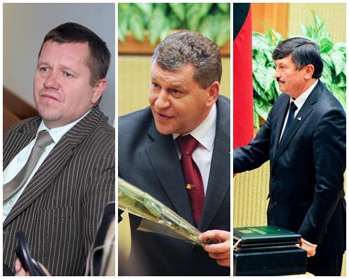 """Trys """"darbiečiai"""": Darius Ulickas, Raimundas Markauskas, Sergejus Ursulis"""
