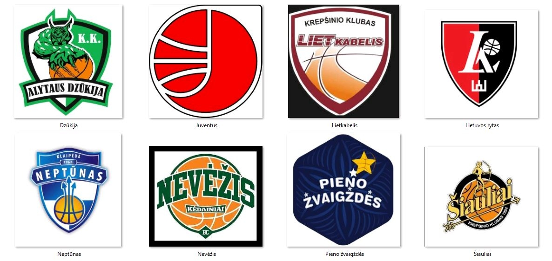 LKLklubų logotipai profesionalų akimis