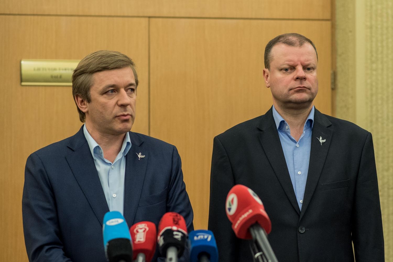 Lietuvos valstiečių ir žaliųjų sąjungos ir socialdemokratų atstovai aptarė pažangą derinant programines nuostatas derybose dėl valdančiosios koalicijos sudarymo