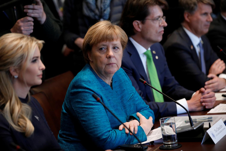 A. Merkel ir I. Trump
