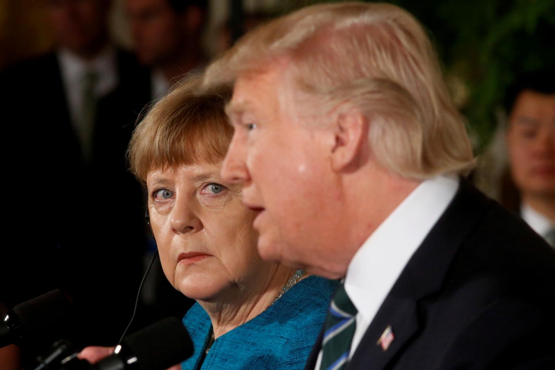 D. Trumpo ir A. Merkel susitikimas