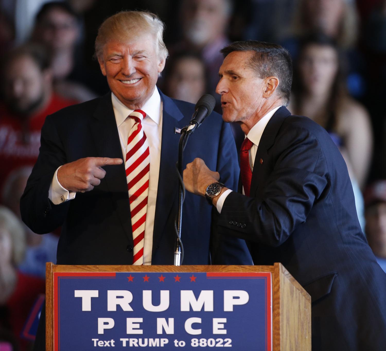 Donaldas Trumpas ir Michaelas Flynnas