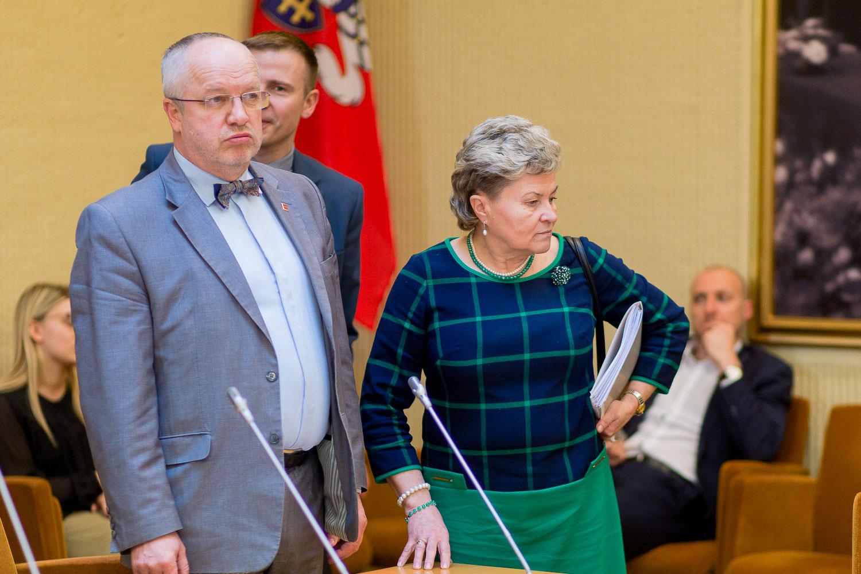 Juozas Olekas ir Irena Šiaulienė