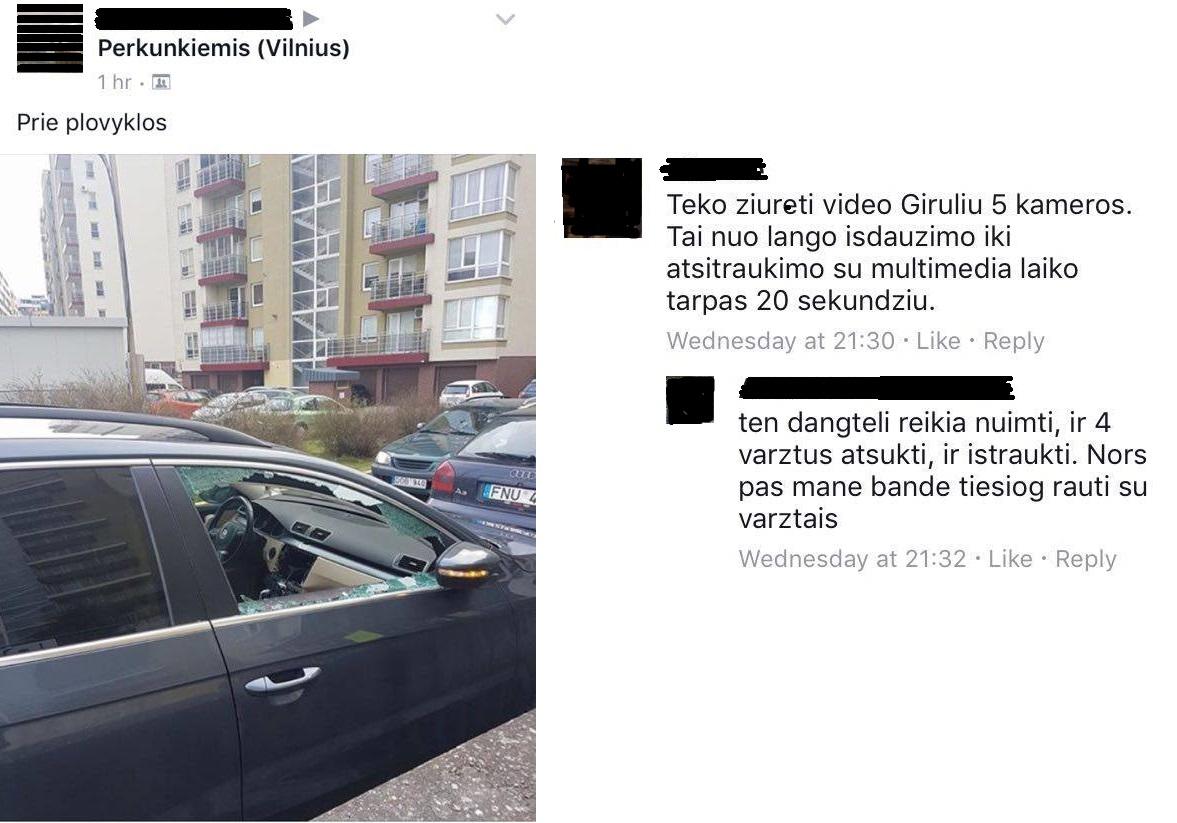 Apvogiami VW Passat automobiliai