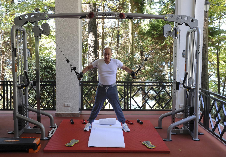 V. Putinas sportuoja
