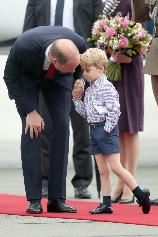 Princas Williamas su žmona Kate ir vaikais vieši Lenkijoje