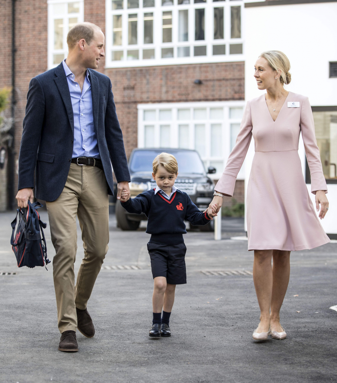 Princo George pirma diena mokykloje