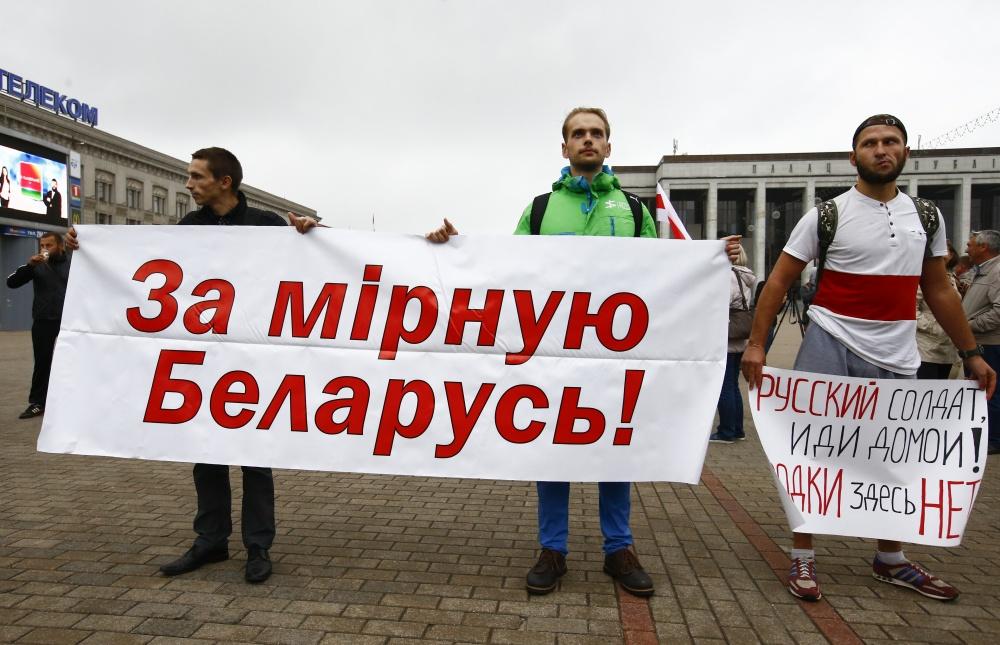 """Baltarusių protestai prieš """"Zapad 2017"""""""